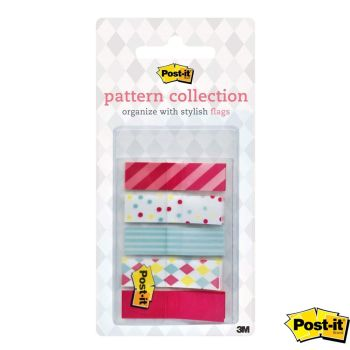 POST-IT® Stylish Pattern Collection Flag Index Tabs