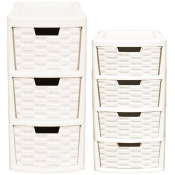 Small Rattan Tower Units Duo Set