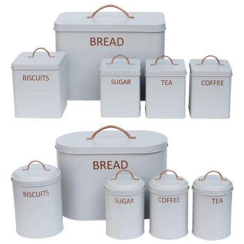 5 Piece Bread Bin Kitchen Storage Set