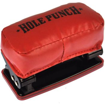 Novelty Paper Hole Punch Bag Glove Boxing Style Foam Pad Push Stationary Gift