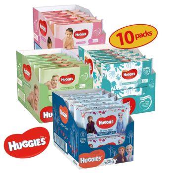 Huggies Baby Wipes - Great Value Bulk Buy 10 Packs