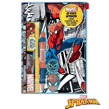 Marvel Spiderman Stationery Set A5 Notebook