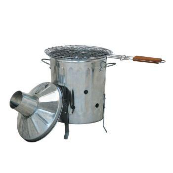 Mini Metal Garden Incinerator Fire Bin & BBQ Grill Rack