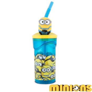 Minions 3D Figurine Tumbler With Straw