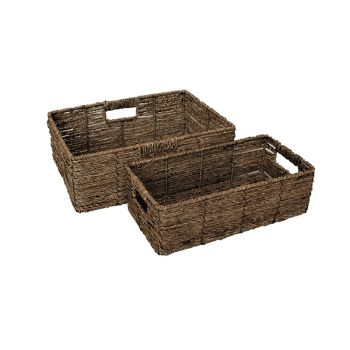 Rattan Nesting Storage Baskets with Linings
