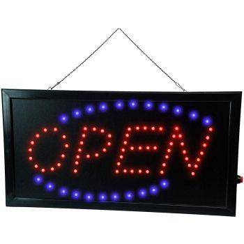 LED 'Open' Sign Shop Front Open Sign 240V Illuminating LED