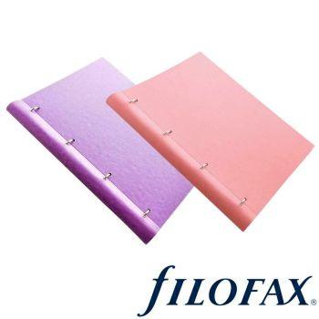 Filofax Classics Assorted A4 Pastels Clipbook Duo Set: Orchid & Rose Set