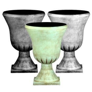 Pompeii Plastic Urn Planter & Base
