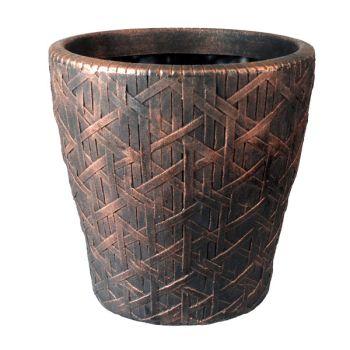 Roma Bronze Plastic Garden Planter Plant Pot