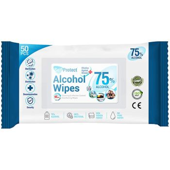 Self Protect - 75% Alcohol Disinfectant Wipes - All-Purpose Cleaning