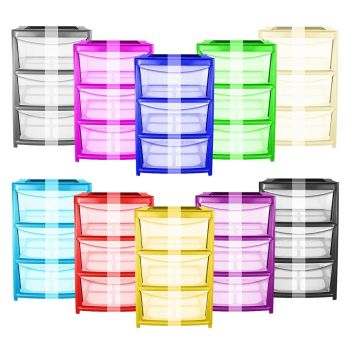 Large Drawer Storage Towers - Choice of Colours & Size