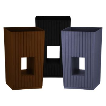 Cubic Modern Plastic Planter - Suitable for Indoor or Outdoor Use
