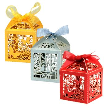 Favour Box Laser Cut Wedding Sweets Candy Gifts
