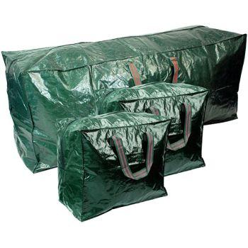 Extra Large 3PC Durable Christmas Xmas Tree & Decorations Storage Bags
