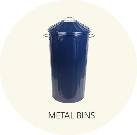 retro metal bins